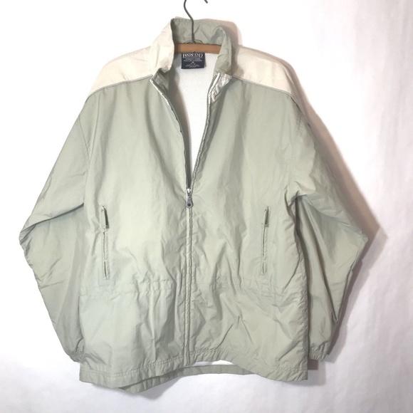 pale tan hooded jacket Size 10-12 New. Lands/' end Khaki Medium